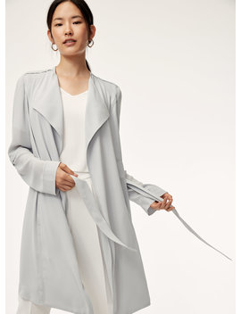 Quincey Jacket   Flowy Modern Trench Coat by Babaton