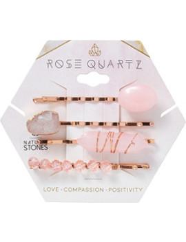 Semi Precious Rose Quartz Bobbies by Riviera