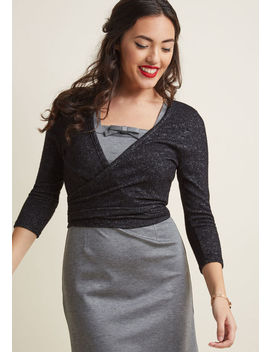 Cropped Cardigan With Wraparound Ties by Modcloth