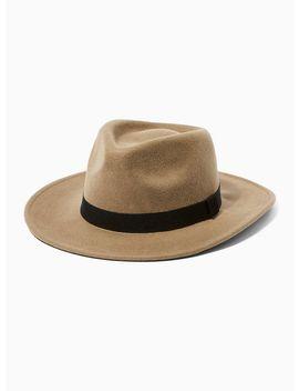 Brown Gambler Hat by Topman