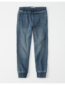 Sweatpant Stretch Denim Joggers by Abercrombie & Fitch
