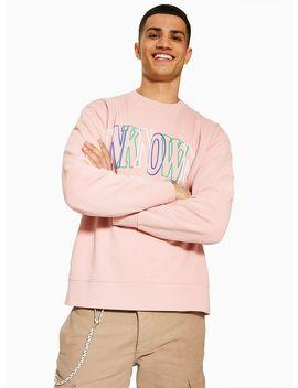 Pink 'unknown' Sweatshirt by Topman
