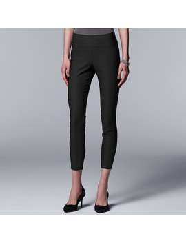 Women's Simply Vera Vera Wang Simply Ultra Stretch Ankle Pants by Kohl's