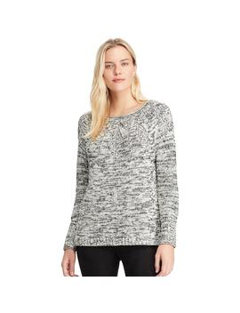 Women's Chaps Stitched Leaf Crewneck Sweater by Kohl's