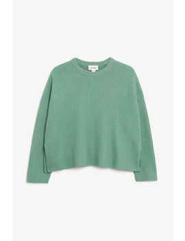 Ribbed Oversized Sweater by Monki