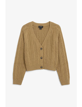 Cable Knitted Cardigan by Monki
