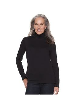 Women's Croft &Amp; Barrow® Classic Turtleneck Top by Croft &Amp; Barrow