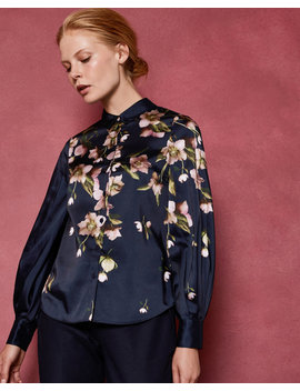 Chemisier Manches Bouffantes Arboretum by Ted Baker