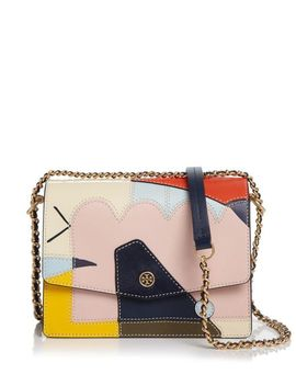 Women's Robinson Mixed Material Convertible Shoulder Bag by Tory Burch