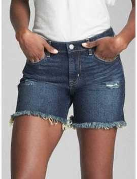 """Mid Rise 5"""" Denim Shorts With Floral Print Detail by Gap"""