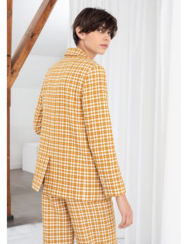 Cross Stitch Plaid Blazer by & Other Stories