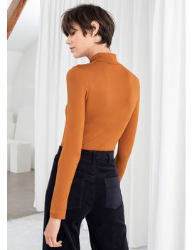 Fitted Long Sleeve Turtleneck by & Other Stories