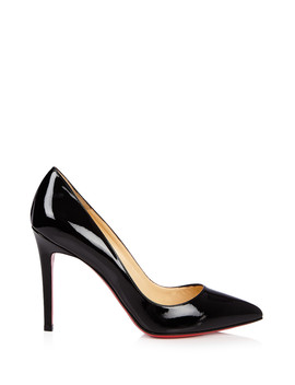 Pigalle Black Patent Leather Stilettos by Christian Louboutin