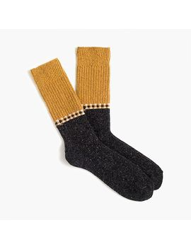 Colorblock Wool Blend Socks by J.Crew