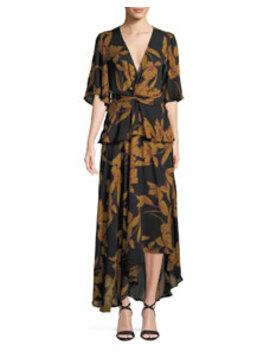 Avi Floral Print Silk Maxi Dress by A.L.C.