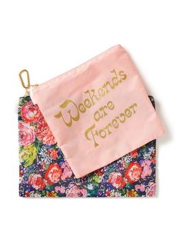 Large Carryall Duo   Weekends Are Forever & Flower Shop by Ban.Do