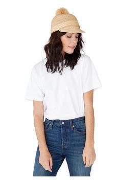 Straw Hat With Pom Pom by Ban.Do