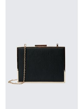 Black Mini Box Clutch Bag by Select