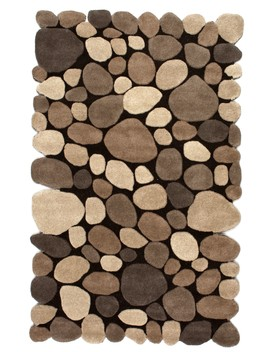 Serendipity Contemporary Handmade Wool Pebbles Cobblestone by Rugs Usa