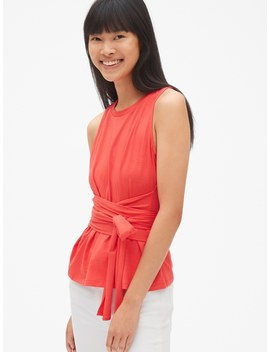 Wrap Tie Waist Tank Top by Gap