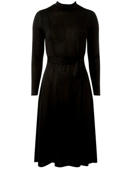 Black Cut And Sew Skater Dress by Dorothy Perkins
