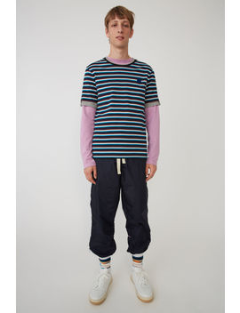 Striped T Shirt Navy/White by Acne Studios