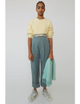 Cuffed Trousers Dusty Green by Acne Studios