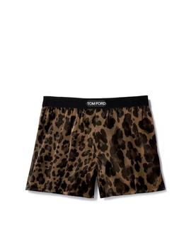 Leopard Silk Boxers by Tom Ford