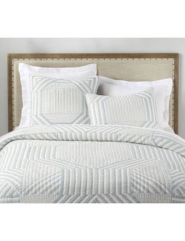 The Emily & Meritt Patchwork Stripe Quilt by Pottery Barn