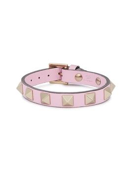 Rockstud Blush Leather Bracelet by Valentino Garavani