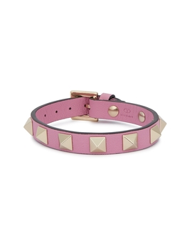 Rockstud Pink Leather Bracelet by Valentino Garavani