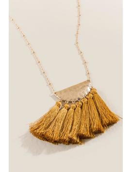 Maldive Tassel Necklace by Francesca's