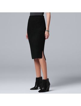 Women's Simply Vera Vera Wang Midi Sweater Skirt by Kohl's