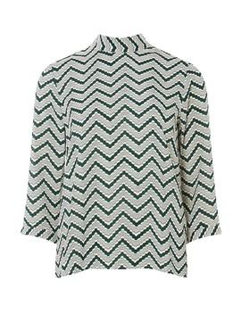 **Vero Moda Green Zig Zag Top by Dorothy Perkins