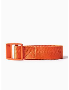 Orange Webbing Belt by Topman