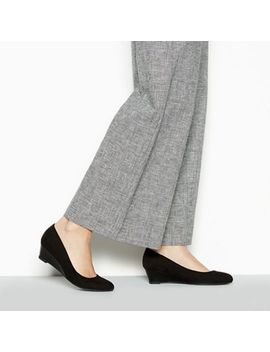 Good For The Sole   Black Suedette 'gretchen' Mid Wide Fit Court Shoes by Good For The Sole
