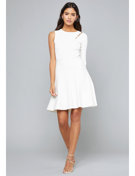 One Sleeve Sweater Dress by Bebe
