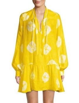 Formentera Tie Dye Drop Waist Dress by Paper London