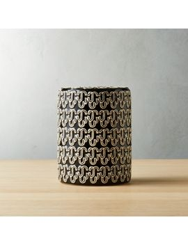 Bond Black And White Ceramic Vase by Crate&Barrel