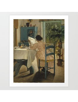 Laurits Andersen Ring 1854   1933 Danish Harvest Time, Ladby Art Print by