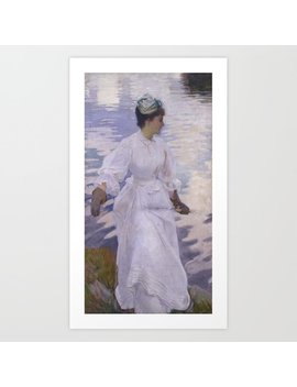 John Singer Sargent 1856–1925   Lady Fishing   Mrs Ormond Art Print by