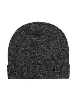 Beanie Hat In Mouliné Cashmere by Boss