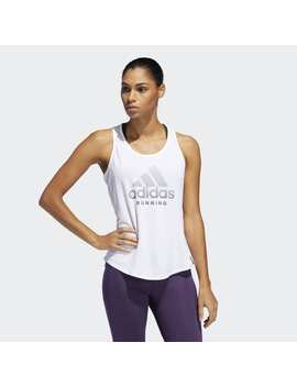 Run It Logo Tank Top by Adidas