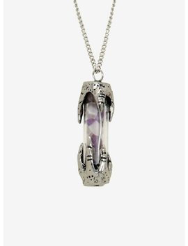 Blackheart Dragon Hands Crystal Vial Necklace by Hot Topic