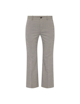 Flared Leg Houndstooth Trousers by Balenciaga