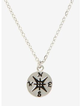 Compass Silver Necklace In A Tube by Hot Topic