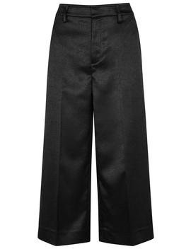 Black Wide Leg Satin Culottes by Vince
