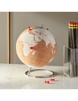 Small White Cork Globe by Crate&Barrel
