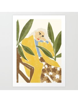 Thinking Art Print by