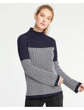 Fairisle Turtleneck Sweater by Ann Taylor